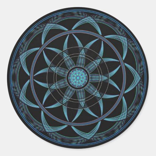 Sacred Geometry Mandala - Bliss Classic Round Sticker