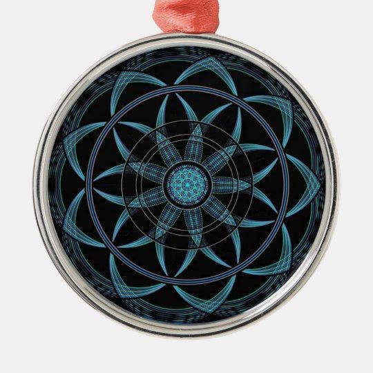 Sacred Geometry Mandala - Bliss Metal Ornament