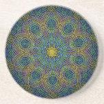 Sacred Geometry Mandala: Sincerity - Hand Drawn Coaster