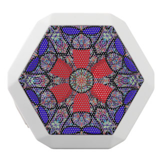 "Sacred Geometry ""Nichito"" Boombot REX by MAR White Bluetooth Speaker"
