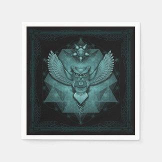 Sacred Geometry Owl Napkin