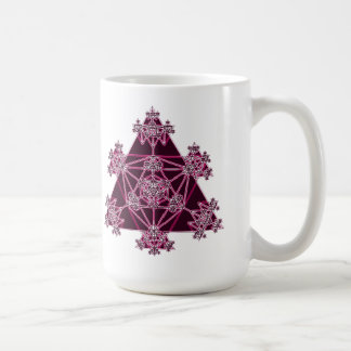 Sacred Geometry: Pink Triangles: Coffee Mug