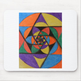 Sacred Geometry Spirals Mouse Pad