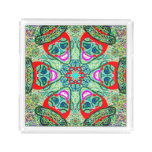 """Sacred Geometry 'Timotea"""" Square Tray by MAR"""