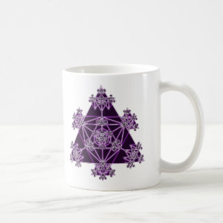 Sacred Geometry: Violet Triangles: Coffee Mug