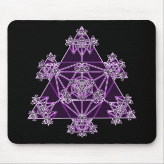 Sacred Geometry: Violet Triangles: Mousepad
