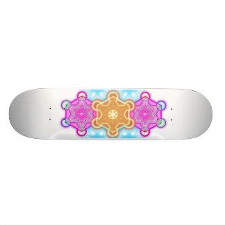 sacred glowing flame merkabah skate baord skateboard deck