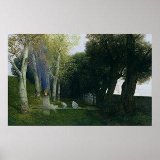 Sacred Grove, 1886 Poster