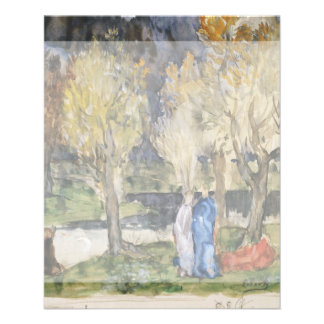 Sacred Grove by Pierre Puvis de Chavannes Personalized Flyer