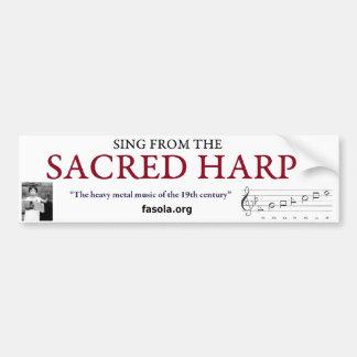 Sacred Harp Bumper Sticker