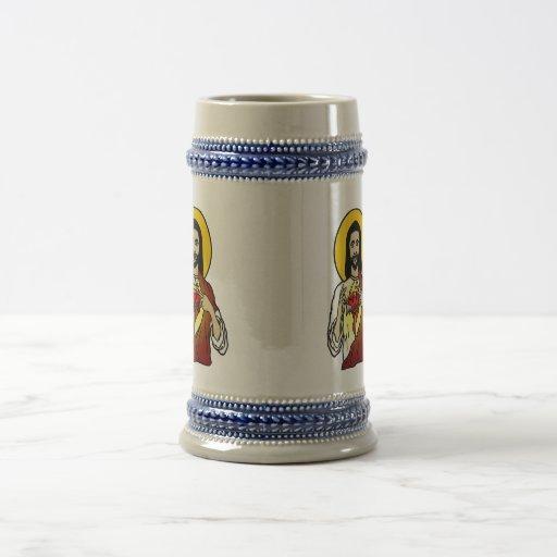Sacred Heart 18 Oz Beer Stein