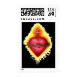 Sacred Heart 2 Postage Stamps