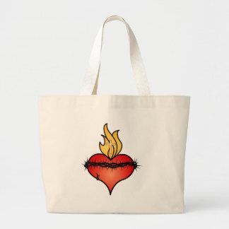 Sacred Heart Jumbo Tote Bag