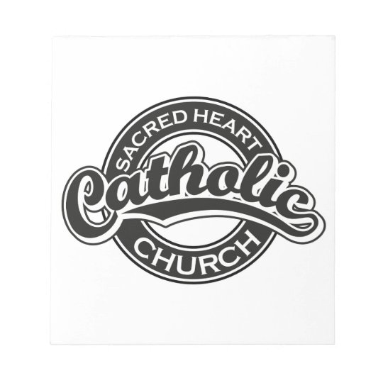 Sacred Heart Catholic Church Black Notepad