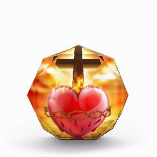 Sacred Heart Christian Illustration Acrylic Award