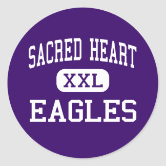 Sacred Heart - Eagles - High - East Grand Forks Classic Round Sticker