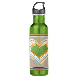 Sacred Heart - Enjoying Life - Expression of Love Water Bottle
