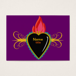 Sacred Heart & Flourishes Custom Business Card