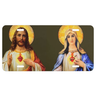 Sacred Heart & Immaculate Heart License Plate