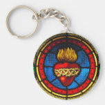 Sacred Heart (J&M) Stained Glass Keychain