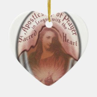 Sacred Heart Jesus Christian Catholic Modern Art Ceramic Ornament