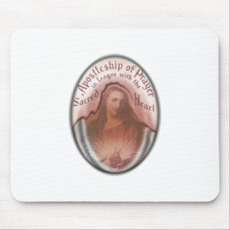 Sacred Heart Jesus Christian Catholic Modern Art Mouse Pad