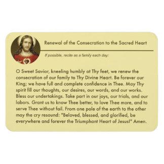 Sacred Heart Jesus Consecration Renewal Prayer Magnet