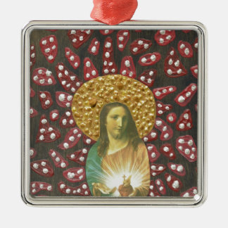 Sacred Heart Jesus Metal Ornament