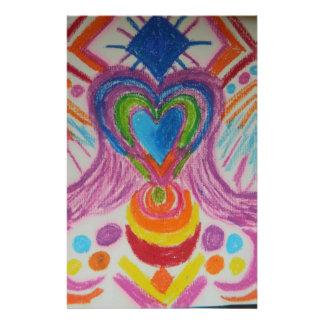 Sacred Heart Light Language Stationery