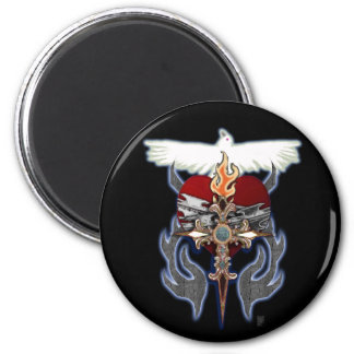 sacred heart 2 inch round magnet