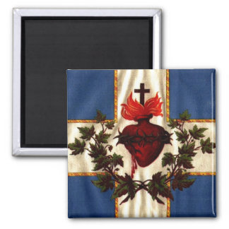 Sacred Heart 2 Inch Square Magnet