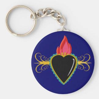 Sacred Heart Milagro & Flourishes Custom Keychain