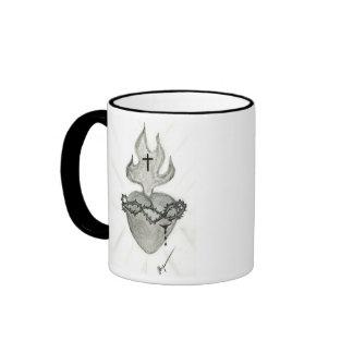Sacred Heart, O Sacred Heartof Jesus, I Place M... Ringer Coffee Mug