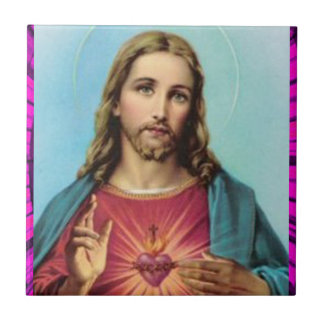 SACRED HEART OF JESUS 04 CUSTOMIZABLE PRODUCTS TILE