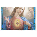 SACRED HEART OF JESUS 05 CUSTOMIZABLE PRODUCTS CLOTH PLACEMAT