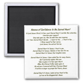 Sacred Heart of Jesus 2 Inch Square Magnet