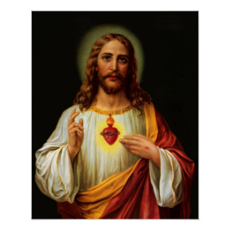 Sacred Heart of Jesus 2 Print Poster