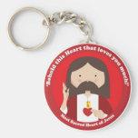 Sacred Heart of Jesus Basic Round Button Keychain