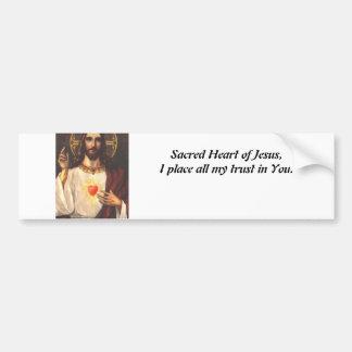 Sacred Heart of Jesus Bumper Sticker