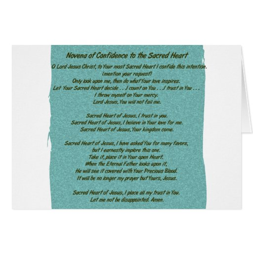 Sacred Heart of Jesus Card