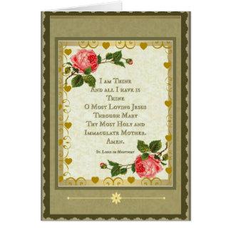 Sacred Heart of Jesus Consecration prayer card