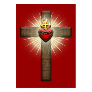 Sacred Heart of Jesus Cross Large Business Card