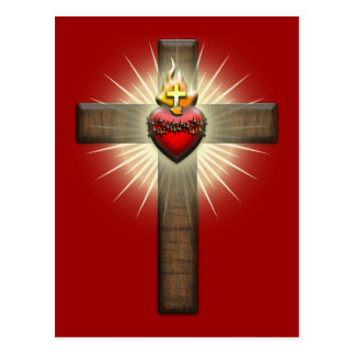 Sacred Heart of Jesus Cross Postcard