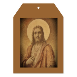 Sacred Heart of Jesus Drawing 5x7 Paper Invitation Card