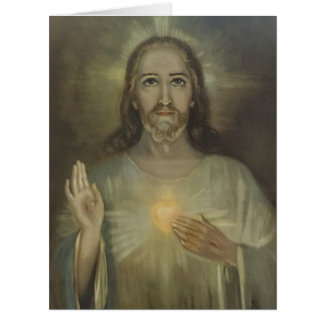 Sacred Heart of Jesus Enthronement Card