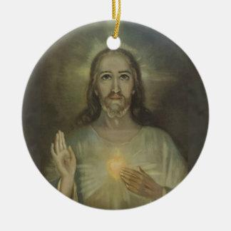Sacred Heart of Jesus Enthronement Ceramic Ornament
