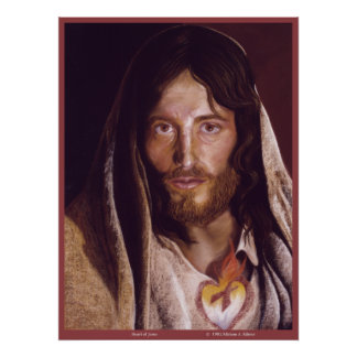 "Sacred Heart of Jesus ""Heart of Jesus"" image Poster"