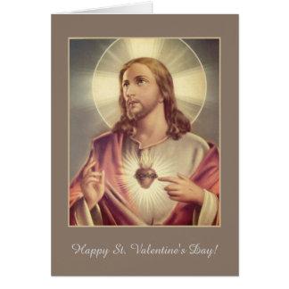 Sacred Heart of Jesus Heart Valentine Card