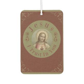 Sacred Heart of Jesus I Trust In You Air Freshener