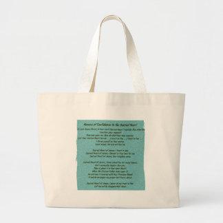 Sacred Heart of Jesus Jumbo Tote Bag